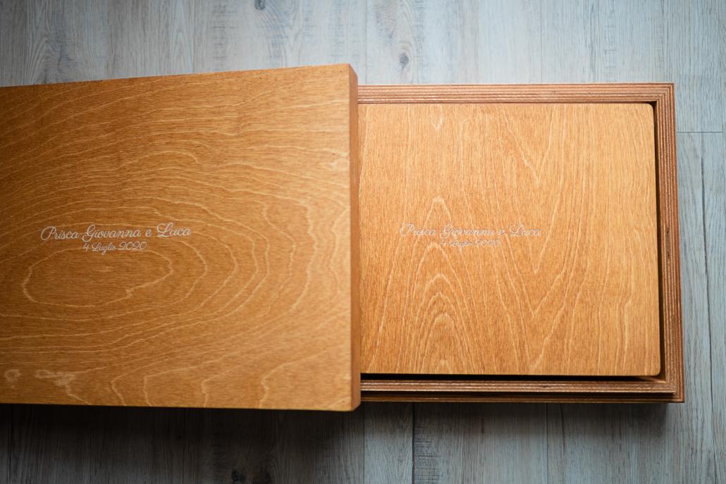 album matrimonio in legno