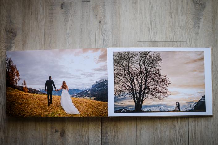album matrimonio stampa fine art pagina aperta
