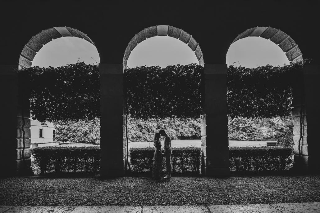 servizio fotografico di coppia in Villa Zileri