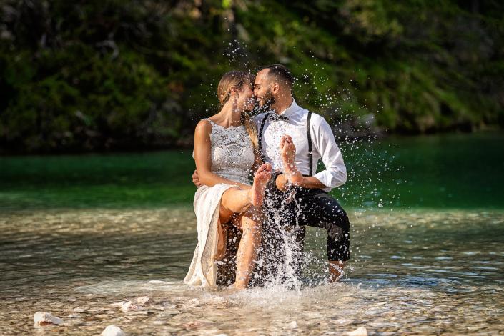 trash the dress al Lago di Braies