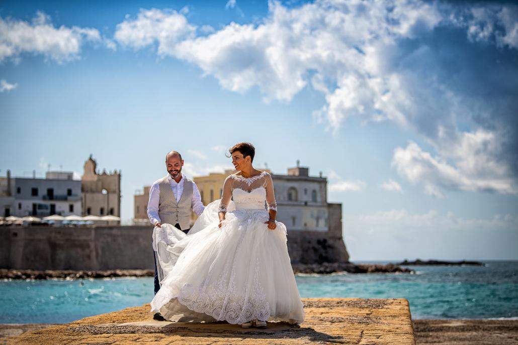 trash the dress in Puglia