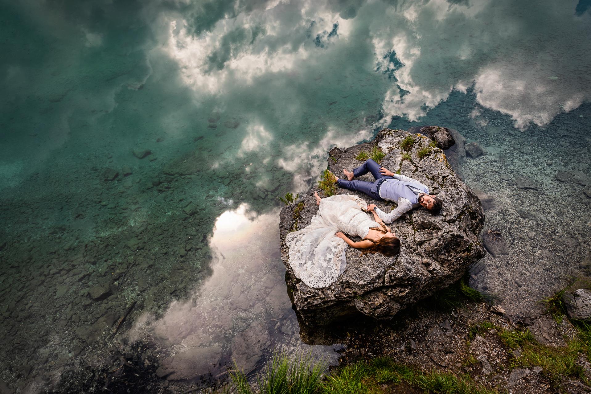 fotografo vicenza - trash the dress lago di braies
