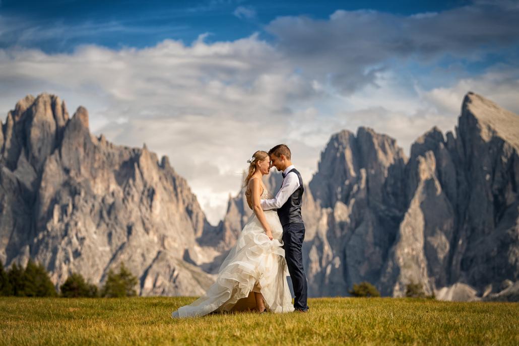 Trash the dress in Alpe di Siusi