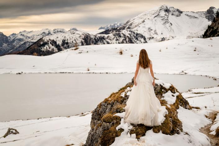 Trash the dress in Val Badia