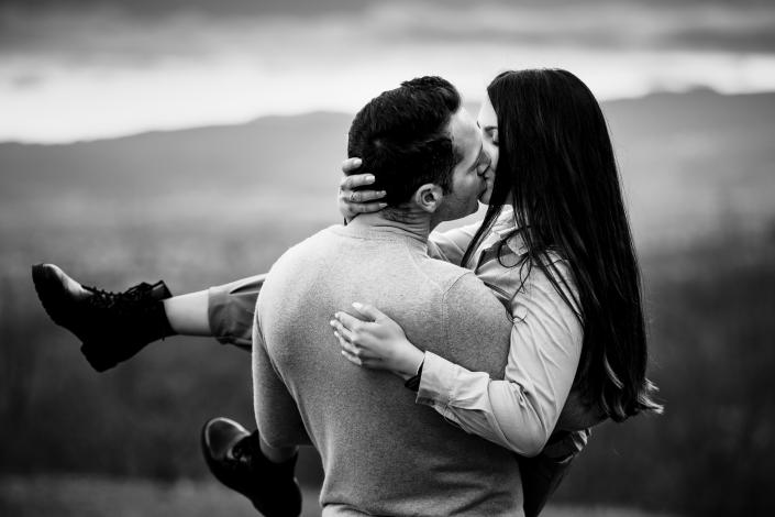 servizio fotografico di coppia- bacio