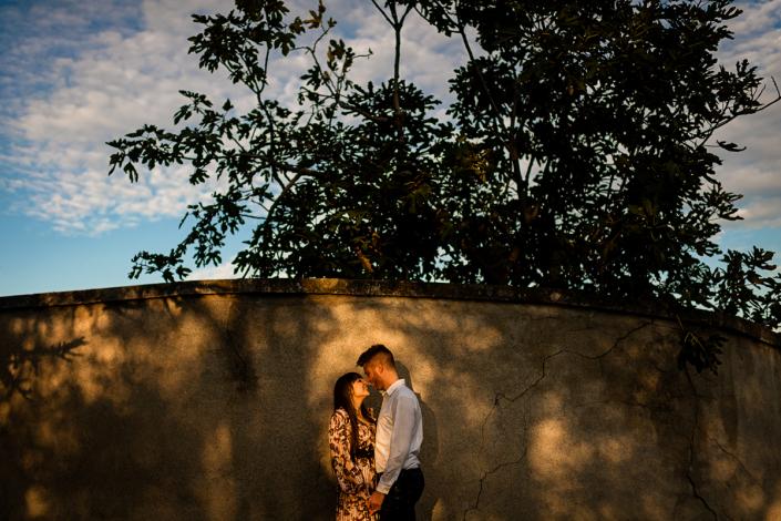 servizio fotografico di coppia in Valle dei molini a Mossano